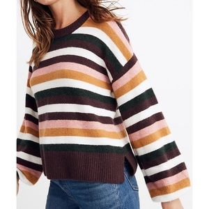 NWT MADEWELL Striped Payton Pullover Sweater